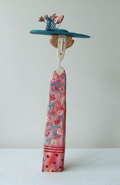 'Florabunda' by Lynn Muir. Handcrafted & handpainted driftwood sculpture. £195  info@whitehousegallery.com  01557 330223