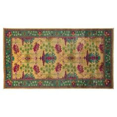 "One Kings Lane 11'8""x6'2"" Suzette Runner, Lemon"