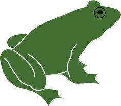 Frog by Rones by rones - silhouette of a frog