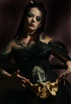 Corset by Louise Black who was on Project Runway. Nice and #Goth