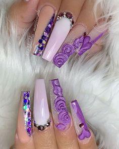 O Melhor Muito Conviértete en una manicura profesional y exitosa. Comience a ganar diner. Fabulous Nails, Perfect Nails, Gorgeous Nails, Nail Swag, Long Nail Designs, Nail Art Designs, Diy Valentine's Nails, Shellac Nails, Jasmine Nails
