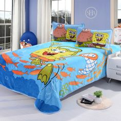 Best 15 Catchy Boys And Girls Bedding Set Collection : Cute Patrick Star and Spongebob Kids Bedding Set Inspiration for Funny Spongebob Squa...
