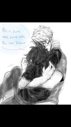 Will is so loving and caring. Nico needs him<< hmm that's not will it's jason<I belive that is percy, and jason actually. << That's definitely Jason and Nico because Nico always wears black, and Will doesn't wear glasses; Apollo Percy Jackson, Percy Jackson Head Canon, Percy Jackson Ships, Percy Jackson Fan Art, Percy Jackson Memes, Percy Jackson Books, Percy Jackson Fandom, Rick Riordan Series, Rick Riordan Books