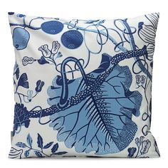 Cushion La Plata Linen --  Swedish design that is loved from Stockholm to New York and Shanghai and home again. Svenskt Tenn's textiles are printed by hand, mainly in Sweden, on 100 percent cotton or linen of the highest quality.
