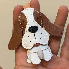 Small size Josie the Basset Hound cowhide by leatherprince