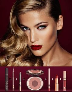 """Get this look """"THE BOMBSHELL"""" from Charlotte Tilbury. Omg this makeup is just absolutely stunning!!  #ad #makeup #makeupset #charlottetilbury #beauty #gethelook"""