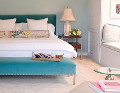 love the headboard and the bench