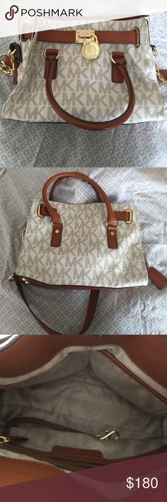 ❄️ MICHAEL KORS AUTHENTIC HAMILTON 💕 ❄️ MICHAEL KORS HAMILTON AUTHENTIC. barely used. Like new. Used maybe 2 times. In very good condition. No stains. Very cute!! MAKE AN OFFER 🌺 Michael Kors Bags