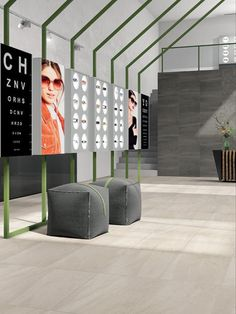 The Atelier Porcelain Tile Collection from Marble Systems offers a lean yet muscular style featuring elegant rectangular shapes.Porcelain tile may be described or imagined in many different ways. Eyewear Shop, Lobby Lounge, Marble Tiles, Lobbies, Porcelain Tile, Floors, Walls, Shapes, Cool Stuff