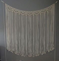 Large Macramé Wall Hanging Wedding Backdrop by TIEDbyLoretta