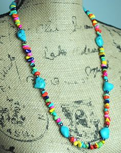 Atop The Ferris Wheel Necklace - Turquoise - Simply M