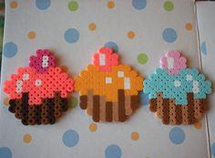 Cupcakes perler beads by sgreenlaw on deviantart