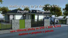 Vaše vysnívané bývanie Váš nový domov: Projekt 7 - 2 izb. bungalov. Inford800@gmail.com +421 908 762 654 Ponúkame výstavbu rodinných domov- nízkoenergetických bungalovov, ktoré spájajú komfort, kvalitu stavebných konštrukcií, energetickú a finančnú úspornosť, efektivitu. • Len za 800,-€/m2 úžitkovej plochy. • GENESIS – to je projekcia a realizácia v jednom. Dom na kľúč je nízkoenergetický bungalov realizovaný z kvalitných materiálov, zhotovený s citom pre detail, servis a inžiniering.