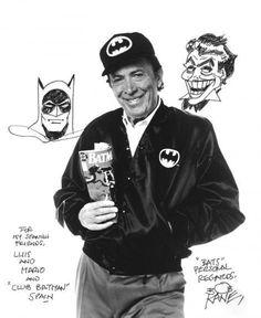 Bob Kane with Batman and Joker Batman Love, Batman Art, Batman And Superman, Batman Story, Yvonne Craig, Bob Kane, Hero Movie, Comics Universe, Gotham City