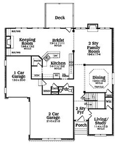 images about floor plans on Pinterest   Square Feet  House    Four Bedroom Salt Box  HWBDO     Colonial House Plan from BuilderHousePlans com
