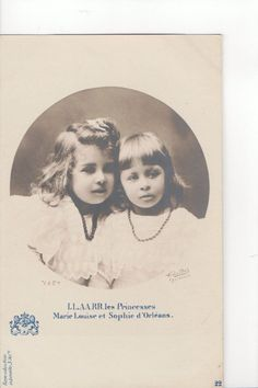 Princesses Marie Louise and Sophie of Orleans