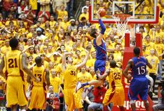 Kansas center Jeff Withey goes in for a bucket against Iowa State during the second half ~ 2.25.13