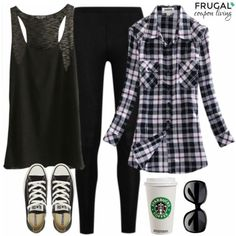 Black Friday Outfit on Frugal Coupon Living, Outfit of the Day, Fall Fashion, Black Outfit Idea, Polyvore Style, Fall Fashion.