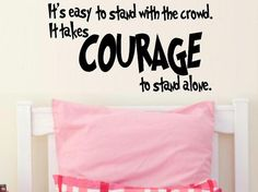 wall decal kids It's easy to stand with the por WallDecalsAndQuotes