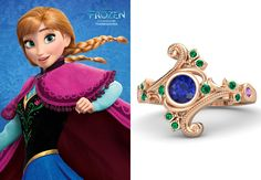 An engagement ring inspired by Anna from Disney's Frozen!