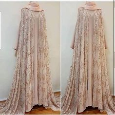 Image may contain: people standing Muslim Wedding Gown, Muslimah Wedding Dress, Muslim Wedding Dresses, Pakistani Fashion Party Wear, Indian Party Wear, Abaya Fashion, Fashion Dresses, Beautiful Hijab, Beautiful Gowns