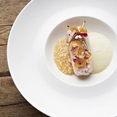 A Michelin star recipe by Executive Chef at Relais & Châteaux Park-Hotel Egerner Höfe, Michael Fell for brook trout with sauerkraut tapioca
