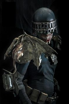 """Judge Death (Sidney De'ath) (Supernatural Ghoul) (Deadworld) Undead Law Enforcer, Death Dispenser. Sadistic, ruthless, twisted, warped. Cannot feel pain. Can possess living humans. Strength (can lift a man with one hand and toss him 15 feet) Make illusions of himself, invade other's minds. Can walk through physical matter like a ghost. 6' 8"""" tall."""