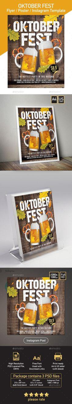 Oktorber Fest - Beer Festival - Set of 3 Template