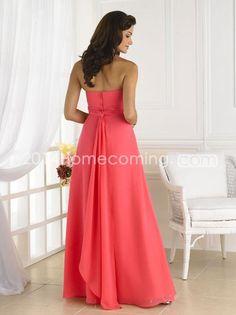Fashionable Draped Sheath/Column Strapless Floor-length Bridesmaid Dresses