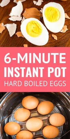 Instant Pot Hard Boiled Eggs -- these Instant Pot eggs turn out *amazing* every . - Instant Pot Hard Boiled Eggs — these Instant Pot eggs turn out *amazing* every time! Cooking Hard Boiled Eggs, Hard Boiled Egg Recipes, Hard Boil Eggs, Instapot Eggs, Easy Hard Boiled Eggs, Recipes For Eggs, Perfect Hard Boiled Eggs, Jars, Jelly Beans