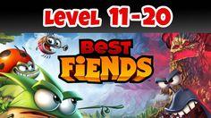 Best Fiends Level 11-20 Gameplay Walkthrough includes 10 game levels:   - Best Fiends Level 11 Barrier Bay    - Best Fiends Level 12 Shadowy Spiral    - Best Fiends Level 13 Mystic Mines    - Best Fiends Level 14 Down Under    - Best Fiends Level 15 Small Shack    - Best Fiends Level 16 The Playground    - Best Fiends Level 17 Dense Woods    - Best Fiends Level 18 Moor Falls    - Best Fiends Level 19 Misty Yard    - Best Fiends Level 20 Battlegrounds