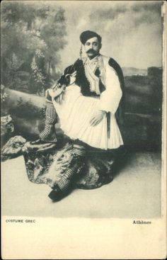Athenes Greece Man in Native Clothing Fashion c1910 Postcard | eBay