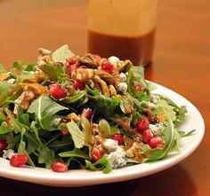 Arugula, pomegranate, blue cheese, pistachio salad