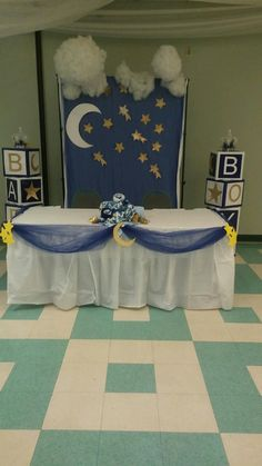 Had fun doing moon and stars. Baby shower
