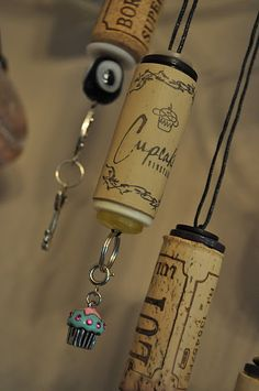 I'm thinking these would also be great made from your New Year's champagne corks and used as ornaments on a tree...