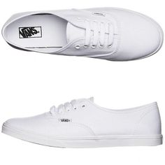 Vans Womens Authentic Lo Pro Shoe White ($69) ❤ liked on Polyvore featuring shoes, sneakers, white, footwear, womens footwear, waffle shoes, white shoes, waffle trainer, white trainers and vans footwear
