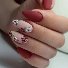 elegant autumn nail designs have to try - blackish green floral stiletto na. - elegant autumn nail designs have to try - blackish green floral stiletto nails inspo 17 ~ Modern House Design - Autumn Nails, Winter Nails, Red Summer Nails, Nagel Gel, Flower Nails, Flower Design Nails, Rose Nail Design, Stylish Nails, Creative Nails