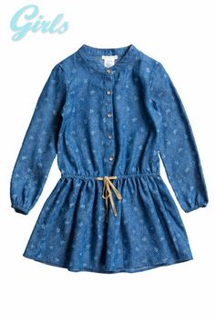 DENIM RIBBORN PRINTED DRESS MD1604-1 – Chelsea Apparel