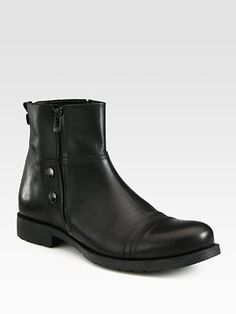 Versace Collection - Leather Ankle Boot - Saks.com