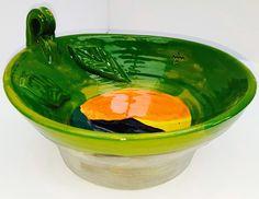 Stoneware. Medium/Large Fruit bowl. Mountain ranges.