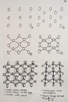 Zentangle pattern tutorial Zentangle patroon stappenplan Enjoy!