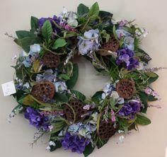 Silk Wreath with Pods