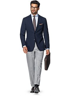 Jacket Navy Plain Havana C4760i | Suitsupply Online Store