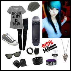 """Skater Girl"" by kendahloakley on Polyvore"