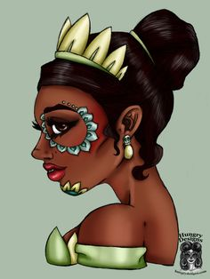 Day of the Dead Tiana Princess and the Frog by HungryDesigns on DeviantArt