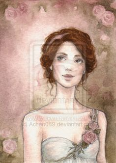 ACEO:Rose Garden II by Achen089.deviantart.com on @deviantART - This is like Mason's mom too