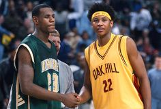 Young LeBron and Melo haha