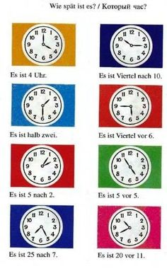 Telling time Study German, Learn German, Learn French, German Grammar, German Words, German Language Learning, Learn A New Language, English Language, Teaching French