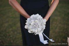 bridesmaid brooch bouquet