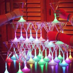 LED martini glasses are awesome for Girls' Night Out and/or IN! Those groovy cocktail lights change colors - soooo dreamy and surprisingly affordable:  http://www.flashingblinkylights.com/themes/bachelorette-party.html?utm_source=Pinterest&utm_medium=Bachelorette%20Party%20Favors&utm_campaign=Girls%20Night%20Out%20board